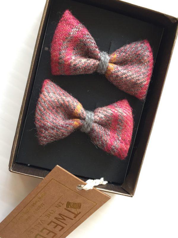 pink plaid bows