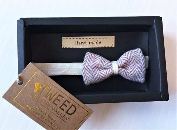 Tweed pink herringbone hairband