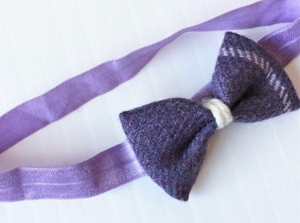 purple tweed hairband