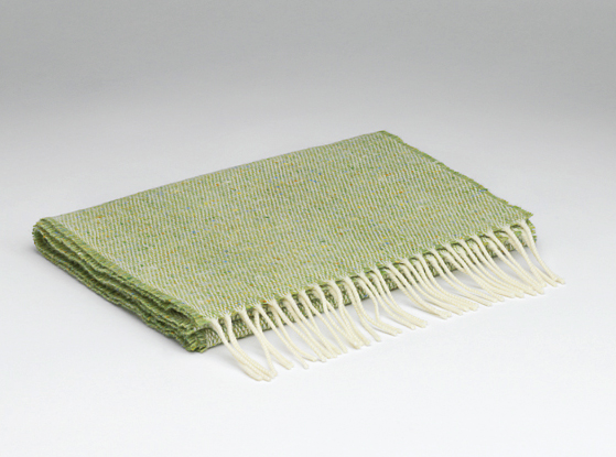 Lime lambswool scarf