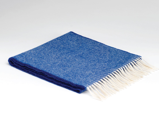 Royal blue lambswool scarf