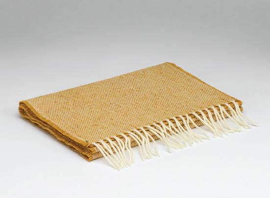 mustard lambswool scarf