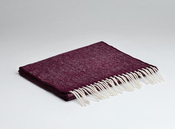 Burgundy lambswool scarf