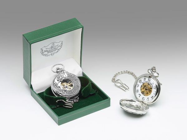 Gents Mechanical Pewter Pocket Watch